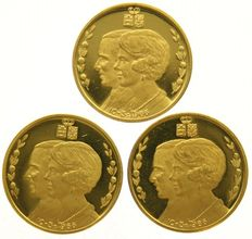 Netherlands – medal Beatrix & Claus 10-03-1966  gold  (3 pieces)