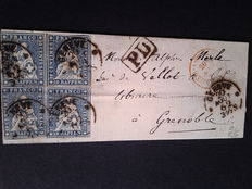 Switzerland 1862 - Letter from Geneva to Grenoble (France) - with certificate