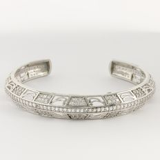 925 Sterling Silver Bracelet -  Diameter : 50 mm