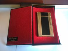 Lighter S.T. Dupont, large model D57 lacquer of China / Gold plated - Rare -  + original Bakelite box