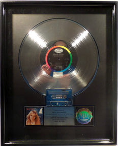 Great White - Once Bitten  - US RIAA Platinum Music Award ( goldene Schallplatte)  - original Sales Music Record Award ( Golden Record )