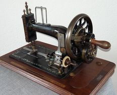 Very old Stella sewing machine with mother of pearl inlay, Dresden-Germany, approximately 1865