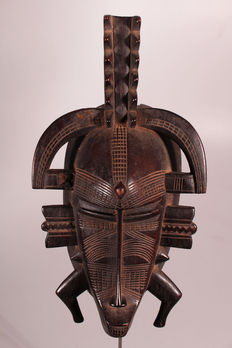 Kpelie mask of the Poro cult, top object - SENUFO - Ivory Coast