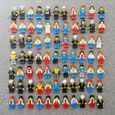 Assorted - 77 Lego mini figures - Classic Town