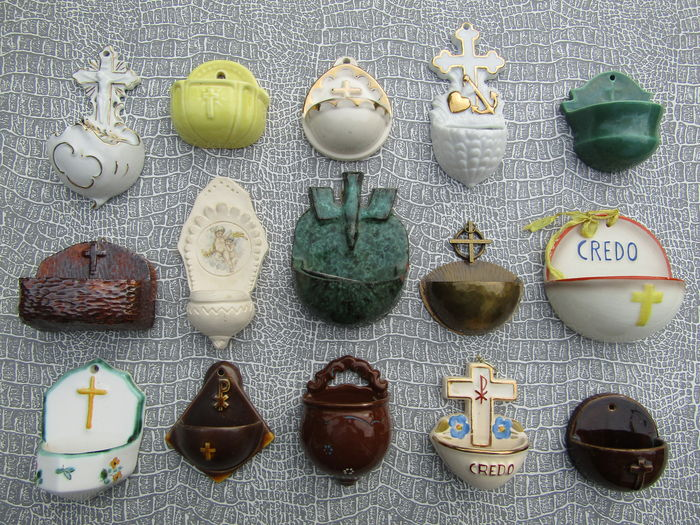 Holy water containers last century.