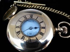 ROLEX. Extra prima large swiss gents half hunter pocket watch date made circa 1930 . [REF NO 237}