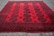 Magnificent AFGHAN almost 12 square metres - approx. 398 x 295cm - with certificate of authenticity