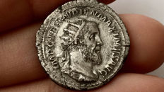 Roman Empire - Pupienus, 22 April – 29 July 238 AD AR Antoninianus 238 AD. Clasped hands. Scarce