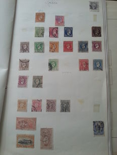 Europe - Collection on sheets with Switzerland, Luxembourg, Austria, Greece from classic