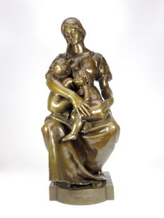 Paul Dubois (1829-1905) - bronze statue 'La Charité'- France - late 19th century.