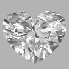 Gia 0.40 ct Heart Brilliant Diamond D VVS2  -Original Image-10X #1522
