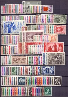Belgium, 1940-1945, five complete years without blocks, between OBP 527 and 724
