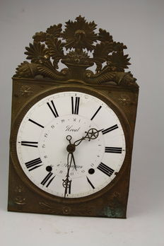 Antique comtoise Sun King with diate - period: approx. 1860. - France