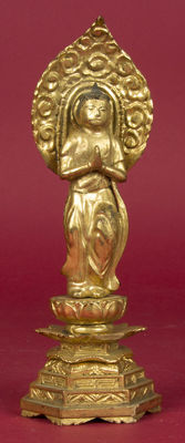 Buddha, gold-plated, wood – Japan – 19th century