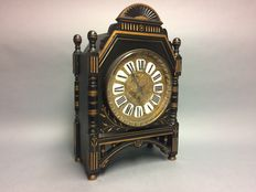 Large wooden table clock with movement by Paul Garnier - period, approx. 1890