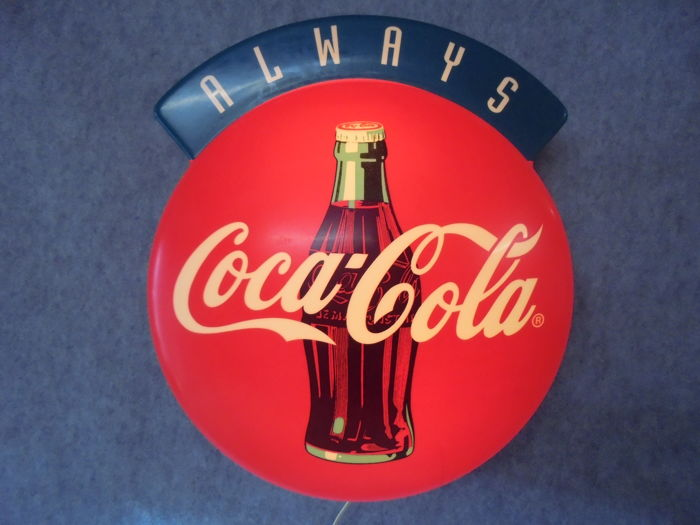 Always Coca Cola wall lamp - 1980s / 1990s