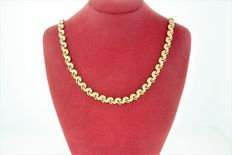 14kt fancy link necklace made in Italy - 18 inches long