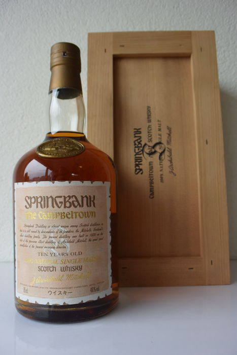 Springbank 10 years old - 1980s dumpy bottle for Japan - Parchment Label - OB
