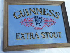 Advertising mirror-GUINNES EXTRA STOUT- approx. 1980 Ireland