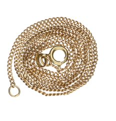 14 kt yellow gold curb link necklace – Length: