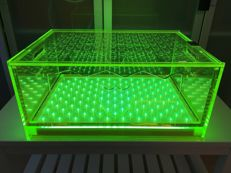 Dom Perignon Champagne luminous Led Green Chiller box 51 X 36 X 24cm