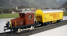 HAG/Märklin H0 - 131/4420 - Rail tractor Te 101 with  Beer wagon 'Eichhof' of the SBB