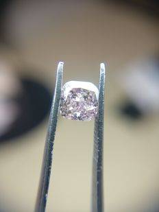 0.51 ct Cushion cut diamond Fancy Brownish Purplish Pink Even I2