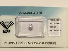 Lot of two diamonds, 0.30 ct NF Purple - 0.82 ct NF Greyish Pink