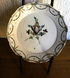 French faience - Plate of the 18th century
