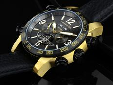 "Calvaneo 1583  ""SYDNEY Gold Black""  Automatic Complication Men's Watch – New"
