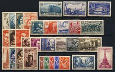 France 1939/1941 - 3 complete years - Yvert numbers 419 to 537