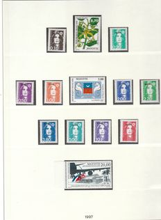 Mayotte 1997/2011 - Complete collection of stamps except for 2 stamps