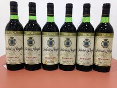 1973 Rioja Collection - Señorio de Prayla Rioja Reserva - Lot of 6 bottles