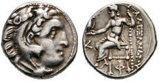 Greek Antiquity. KINGS of MACEDONIA​. Antigonos I Monophthalmos. As Strategos of Asia, 320-306/5 BC, or king, 306/5-301 BC. Silver Drachma. Kolophon mint. In the name and types of Alexander III. Struck circa 310-301 BC.