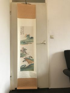 A scroll painting, made after Zhang Daqian - China - late 20th century
