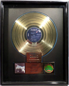Autograph - Sign in please , US RIAA Gold Award goldene Schallplatte - original Sales Music Record Award ( Golden Record )