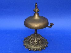An antique bronze/copper hotel/butler bell France 1st half 20th century
