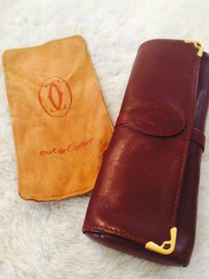 Lot of 2 - Cartier leather etui & Estee Lauder bag case