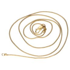 14 kt yellow gold snake link necklace – Length: 45 cm