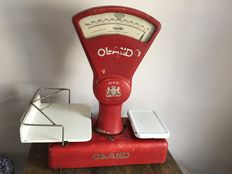Very nice old Oland grocery scale, 1944, Netherlands