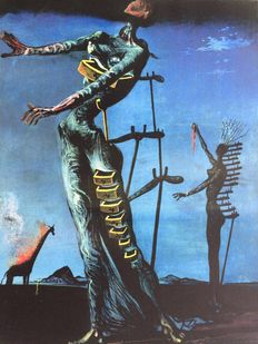 Salvador Dalí (after) - The Burning Giraffe