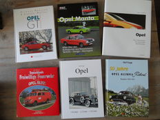 Opel; Lot of 10 books about the technique and history of Opel - 1987/2010