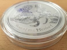 Australia - 30 dollars 2016 Lunar II Year of Monkey, 1 kg - Silver