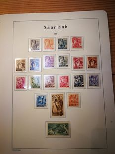 Germany - Saarland collection from 1947 to 1959