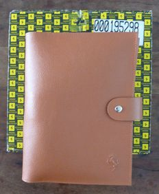 Beautiful and Genuine Ferrari Tan Leather Service Wallet - includes MAGLITE torch and Cleaning kit