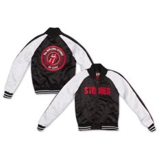 The Rolling Stones - Stones Silk Varsity (Mens Jacket Black/White XL) / Official Merchandise