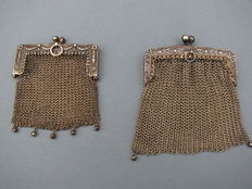 "Two silver purses ""chain mail"" - first half 20th century"