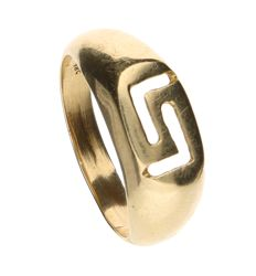 14 kt yellow gold signet ring – inner size:  19 mm