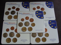 Germany – year pack 2004A, D, F, G, J (five pieces)