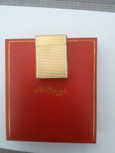 "S.T. Dupont lighter ""Ligne 1"", gold plated, small model"
